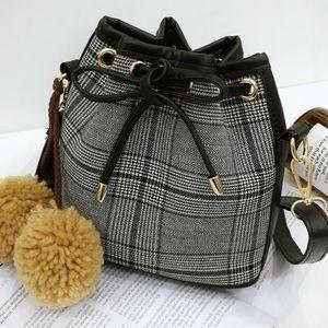 Pom Pom Crossbody Handbag